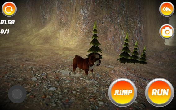 3D CUTE LITTLE BULLDOG apk screenshot