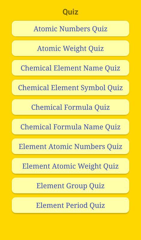 Chemical Quiz Et Al For Android Apk Download