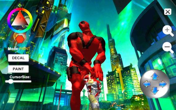 Dead Superhero Ninja Pool Justice Coloring Game screenshot 12