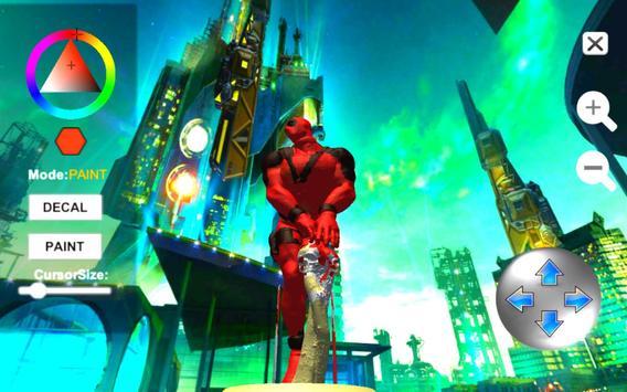 Dead Superhero Ninja Pool Justice Coloring Game screenshot 13