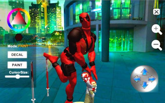 Dead Superhero Ninja Pool Justice Coloring Game screenshot 1