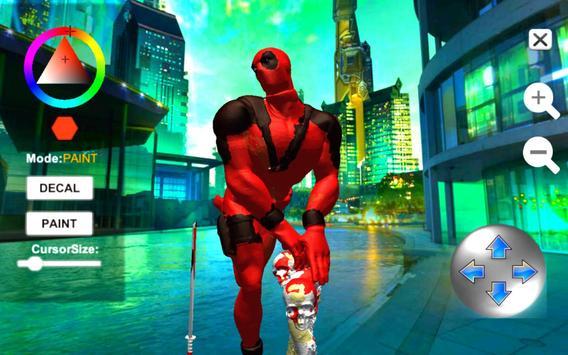 Dead Superhero Ninja Pool Justice Coloring Game screenshot 2