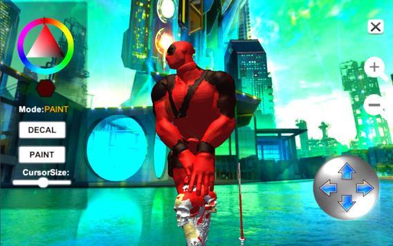 Dead Superhero Ninja Pool Justice Coloring Game screenshot 3