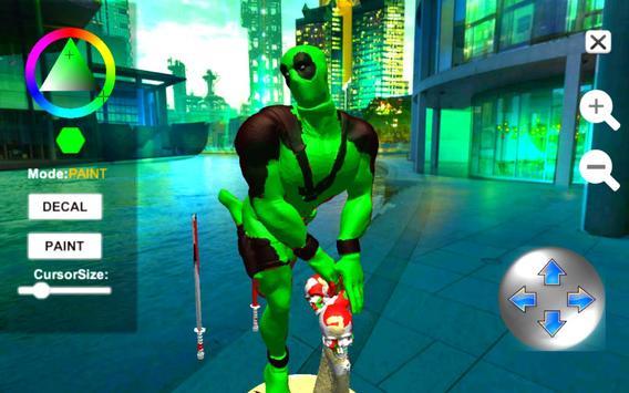 Dead Superhero Ninja Pool Justice Coloring Game screenshot 7