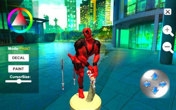 Dead Superhero Ninja Pool Justice Coloring Game screenshot 8