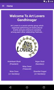Poster Art Lovers Gandhinagar