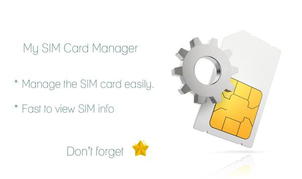 My SIM Card Toolkit Manager poster