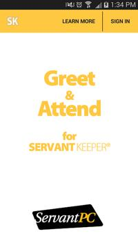 Greet and Attend V7 poster