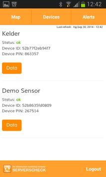 ServersCheck Cloud App screenshot 2