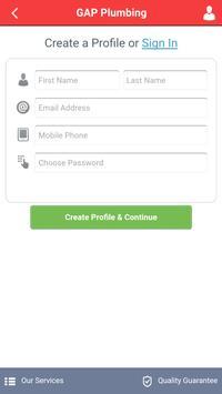 GAP Plumbing App apk screenshot