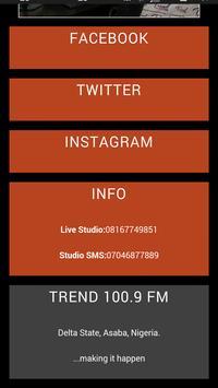 Trend 100.9 FM apk screenshot