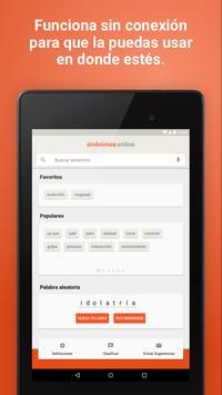 Diccionario Sinónimos Offline скриншот 12