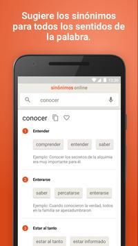 Diccionario Sinónimos Offline скриншот 1