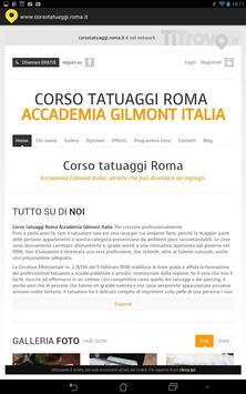 Corso tatuaggi Roma poster