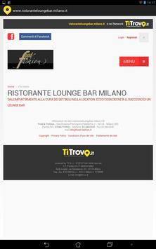 Ristorante Lounge Bar Milano apk screenshot