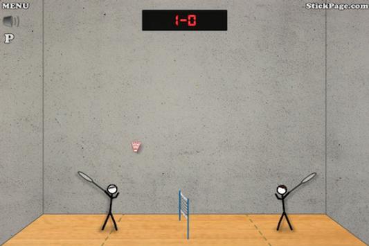 Stick Figure Badminton screenshot 2
