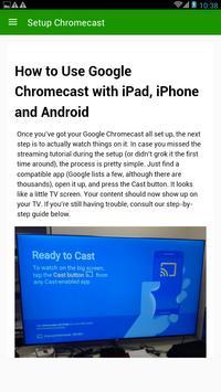 Simple chromecast com setup apk screenshot