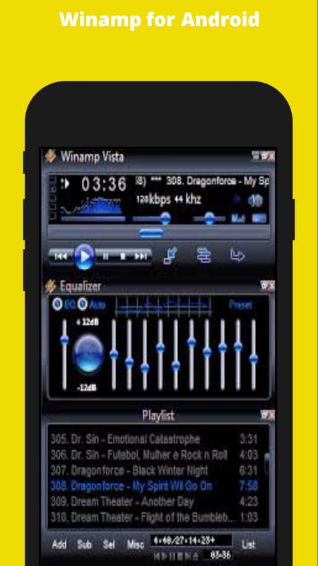 Winamp for android download.