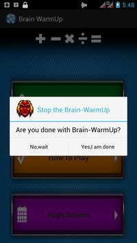 Brain WarmUp apk screenshot