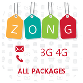 Zong Sim 3g/4g,Wingle,Sms and Call Packages icon