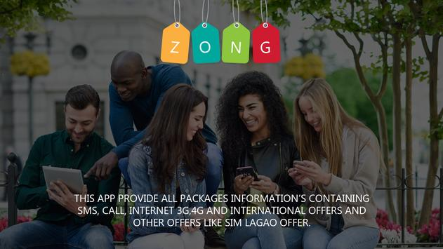 Zong Sim 3g/4g,Wingle,Sms and Call Packages screenshot 3