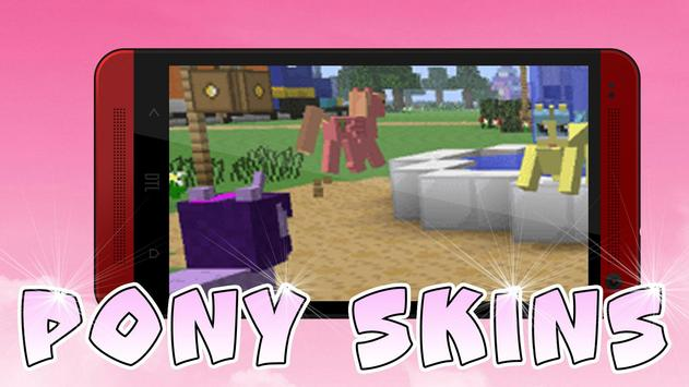 Cute Pony skins for Minecraft poster