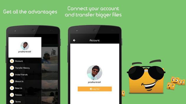 GuruTransfer: Send Large Files apk screenshot