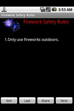 Firework Safety Rules poster