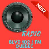 Radio for BLVD 102.1 FM Quebec  station Canada. icon