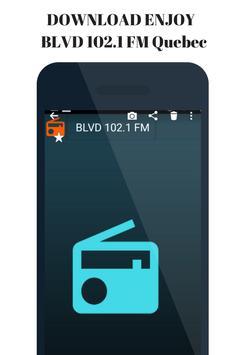 Radio for BLVD 102.1 FM Quebec  station Canada. screenshot 1
