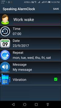 Speaking AlarmClock screenshot 1