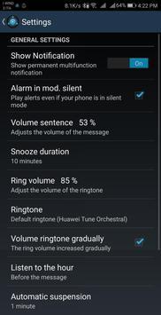 Speaking AlarmClock screenshot 2
