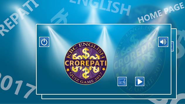 Crorepati English Quiz Game 2017 NEW poster