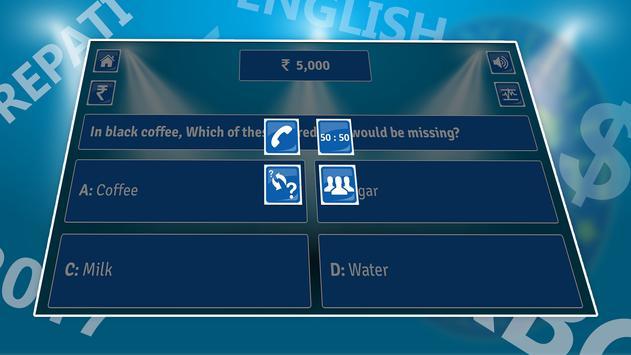Crorepati English Quiz Game 2017 NEW screenshot 2