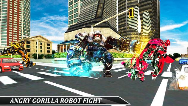 Gorilla Robot Tractor Transform- Multi Robot games screenshot 4