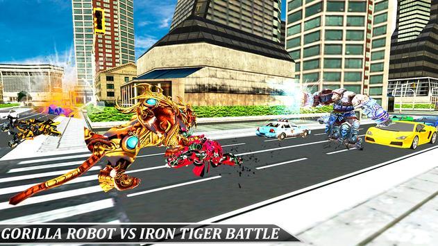 Gorilla Robot Tractor Transform- Multi Robot games screenshot 5