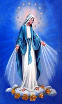 Virgen Maria buenas noches poster
