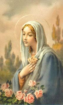 Virgen Maria buenos dias poster