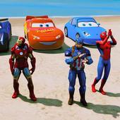Super Hero Cars Lightning Mcqueen Car Racing Games icon