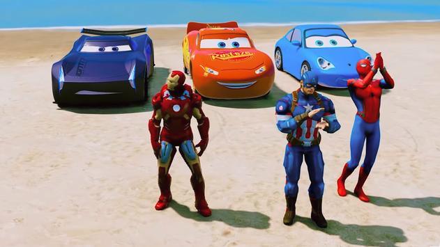 Super Hero Cars Lightning Mcqueen Car Racing Games poster
