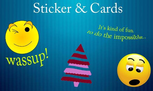Stickers & Cards for WhatsApp poster