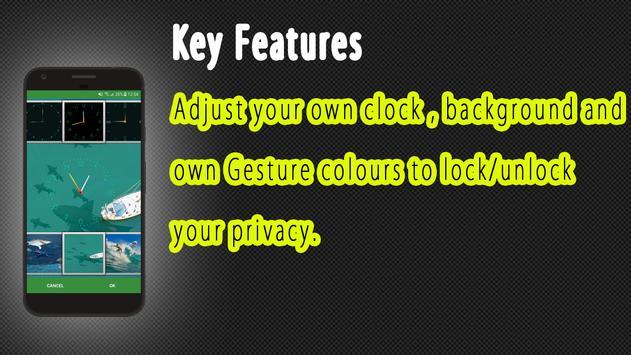 Gesture Lock screen and app lock theme SHARK screenshot 7