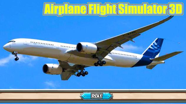 Airplane Flight Simulator 3D poster