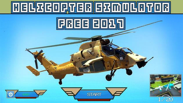 Helicopter Simulator Free 2017 poster