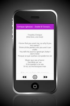 Enrique Iglesias Duele Corazon apk screenshot