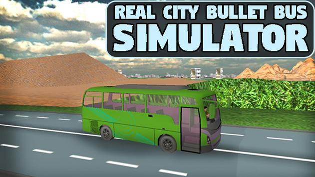 Real City Bullet Bus Simulator poster