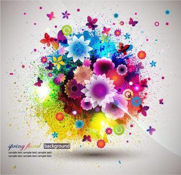 Spring Flowers Free Wallpaper poster