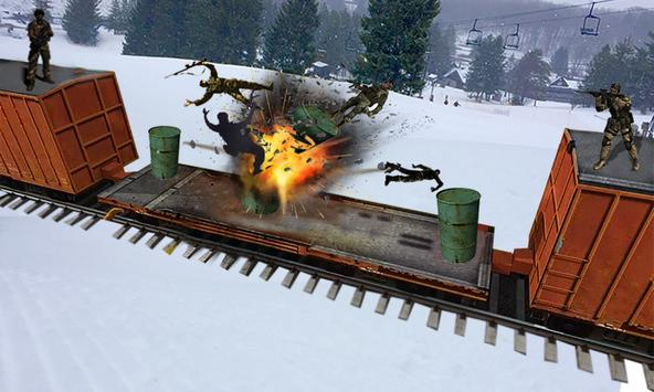 Commando Train Attack Sniper Shooter Action apk screenshot