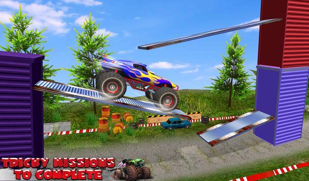 Monster Truck Tricky Stunt Race screenshot 2