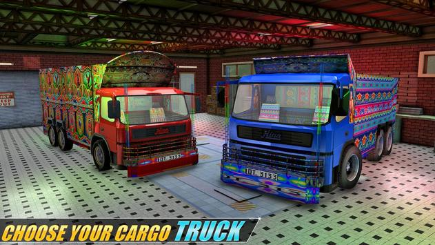 Indian Real Cargo Truck Driver poster